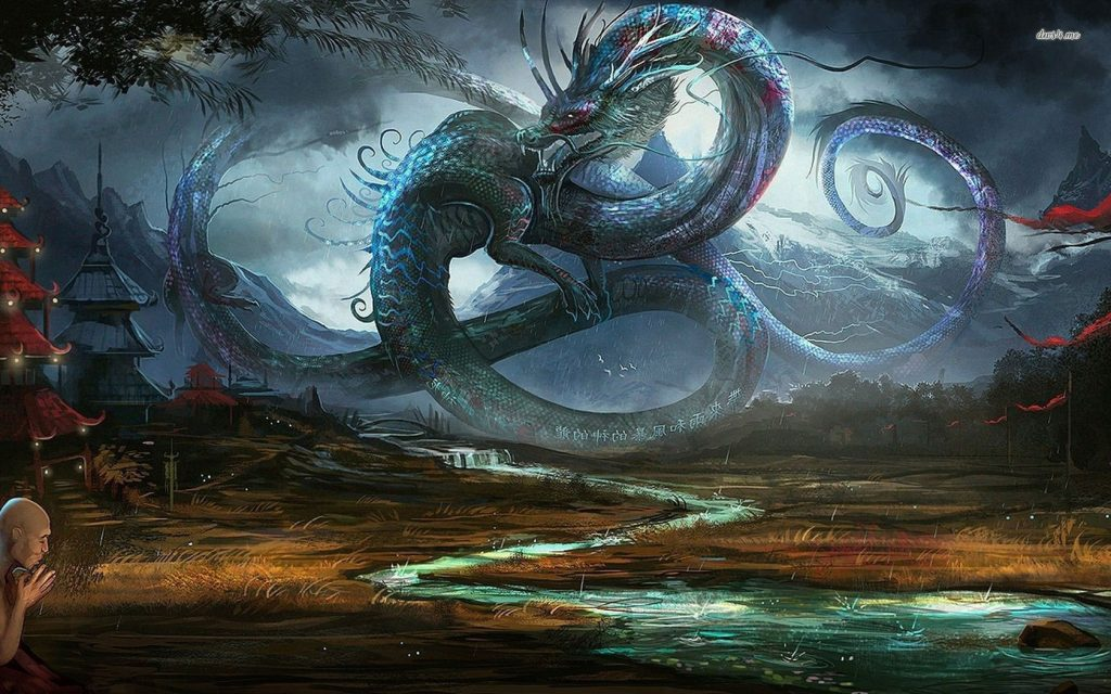dragon-in-ancient-chinese-village-1680x1050-fantasy-wallpaper